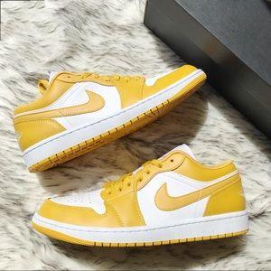 Nike Air Jordan 1 Low White Pollen Yellow